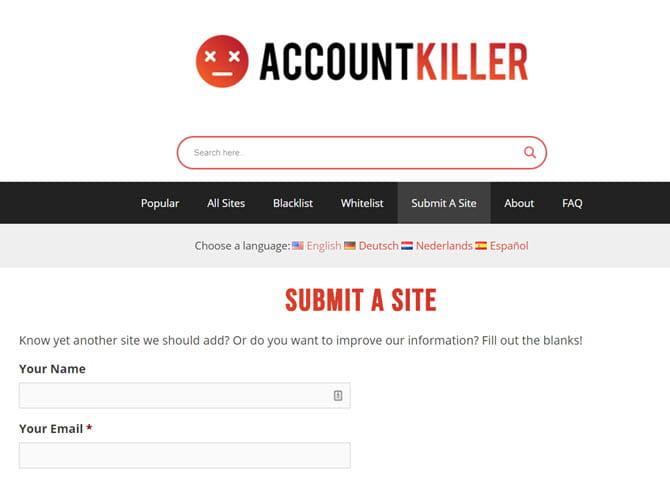 كيفية حذف الحسابات القديمة الخاصة بك على الإنترنت باستخدام AccountKiller - شروحات