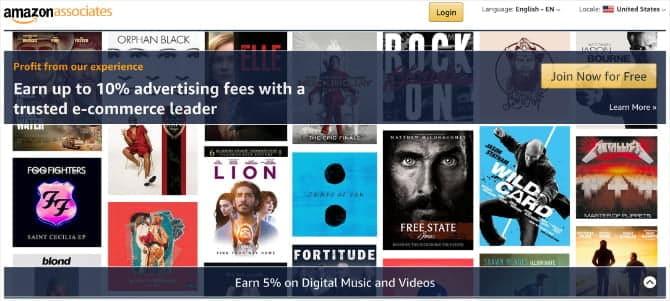 Amazon Affiliate program with movies and music RD4d3Pfs DzTechs - كيفية كتابة مراجعات الأفلام على الانترنت وكسب المال من القيام بذلك