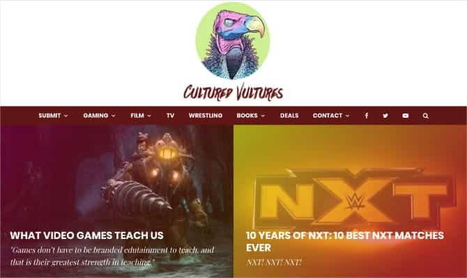 Cultured Vultures home page M84d3Pfs DzTechs - كيفية كتابة مراجعات الأفلام على الانترنت وكسب المال من القيام بذلك