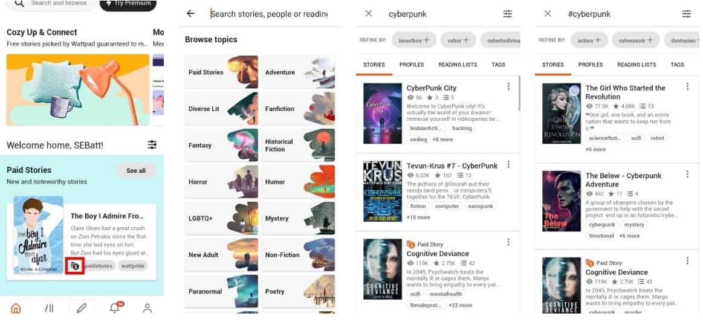 كيفية قراءة الكتب الإلكترونية بشكل مجاني باستخدم Wattpad