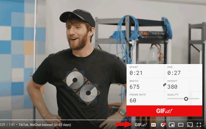 كيفية إنشاء صور GIF من مقاطع فيديو YouTube