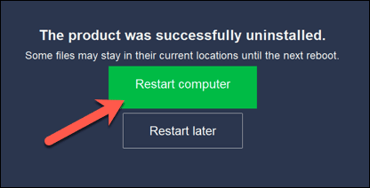 كيفية إلغاء تثبيت Avast على نظام التشغيل Windows 10