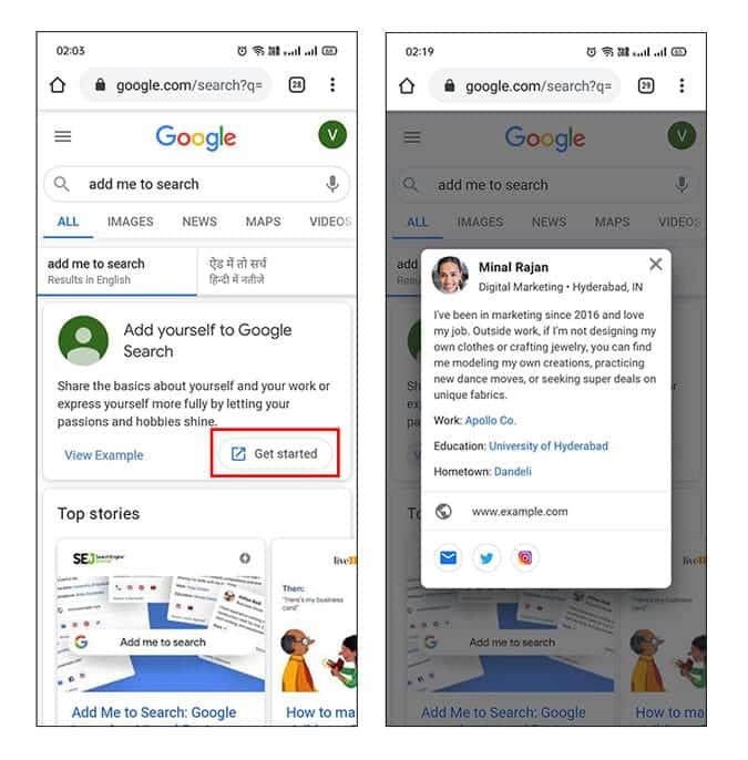 """ما هي ميزة """"أضفني إلى البحث"""" من Google وكيفية تعمل بطاقات الأشخاص"""