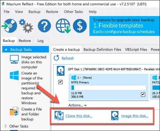 كيفية استنساخ القرص الصلب في نظام التشغيل Windows 10