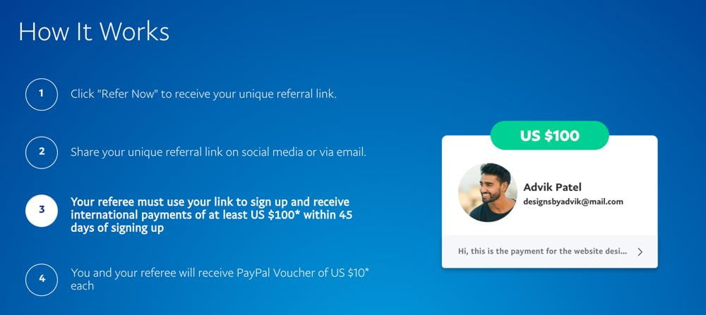 Programme de parrainage PayPal : Gagnez jusqu'à 100 $ en invitant d'autres utilisateurs - Marketing d'affiliation