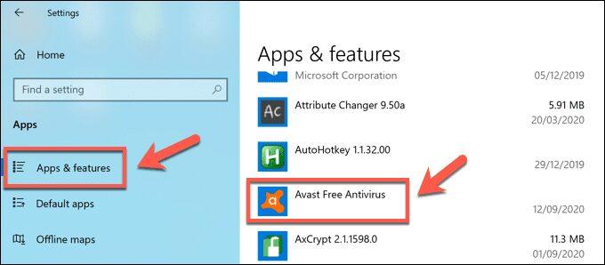 Comment désinstaller Avast sur Windows 10 - Windows