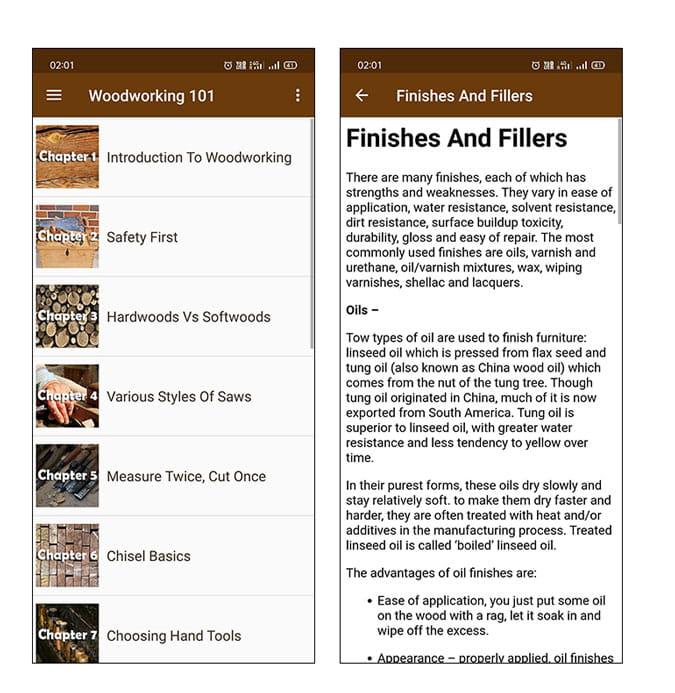 أفضل تطبيقات المشغولات الخشبية لنظامي التشغيل iOS و Android
