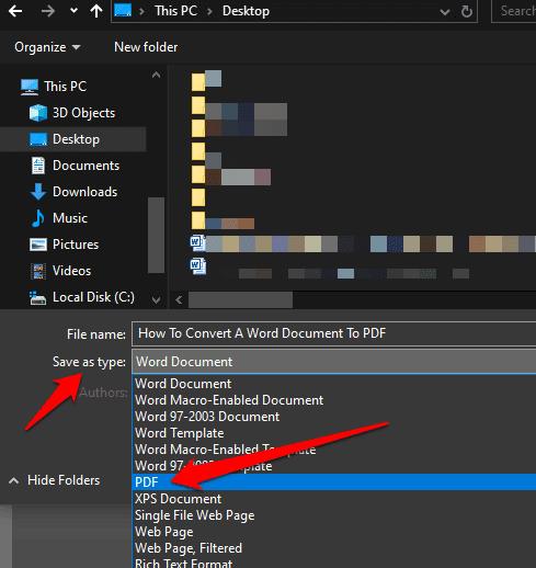 كيفية تحويل مستند Word إلى PDF بعدة طرق
