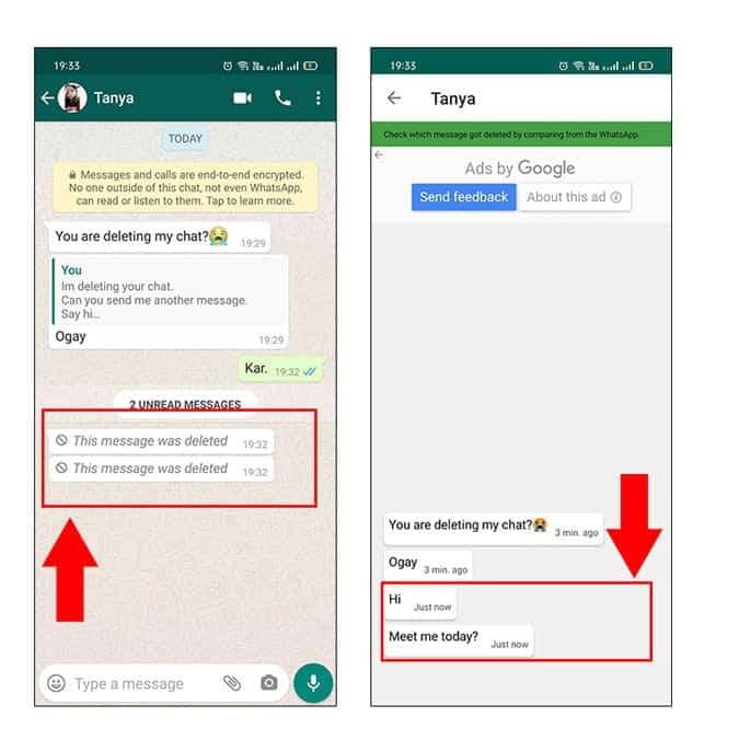 كيفية قراءة رسائل WhatsApp المحذوفة علىAndroid