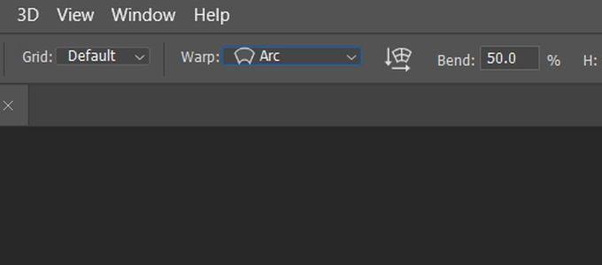 كيفية جعل النص منحني في Photoshop - شروحات