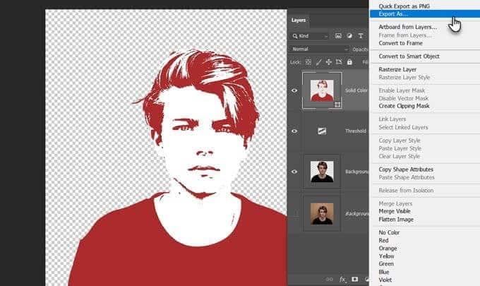 كيفية تحويل أي صورة نقطية إلى شعاعية في Photoshop