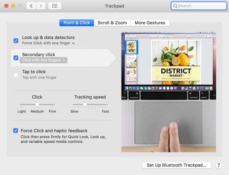 كيفية النقر بزر الماوس الأيمن على جهازMac