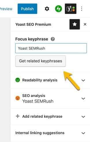 تكامل كل من Yoast و SEMRush يجعل البحث عن الكلمات الرئيسية أبسط في WordPress