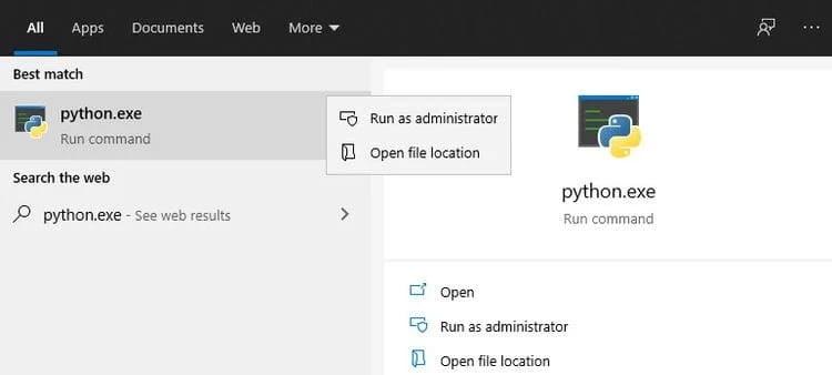كيفية إضافة Python إلى متغير WindowsPATH