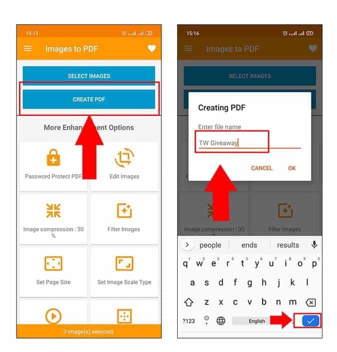 كيفية تحويل صور متعددة إلى ملف PDF واحد على نظامAndroid - Android