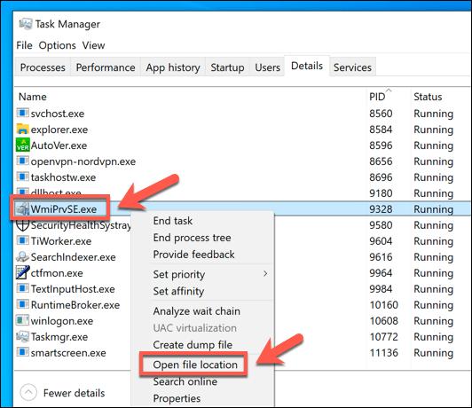 ما هي عملية WMI Provider Host في Windows (وهل هيآمنة) - الويندوز