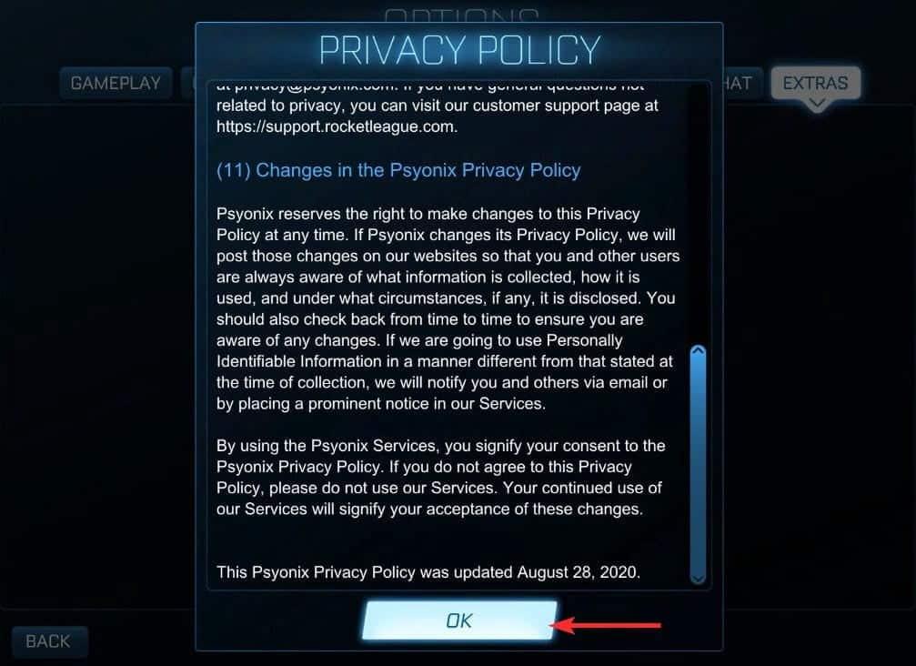 Comment accepter le contrat de licence de la Rocket League [correction qui fonctionne!]