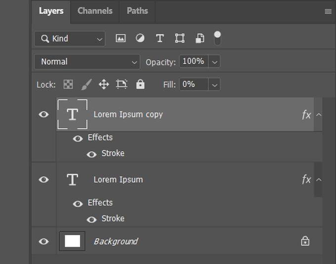 كيفية تحويل النص إلى مخطط تفصيلي في Photoshop