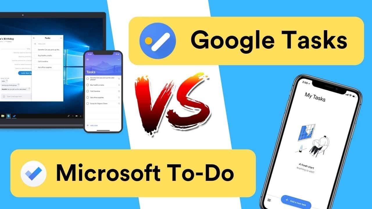Comparaison entre Microsoft To Do et Google Tasks: pourquoi utiliser la première option mentionnée - Avis -