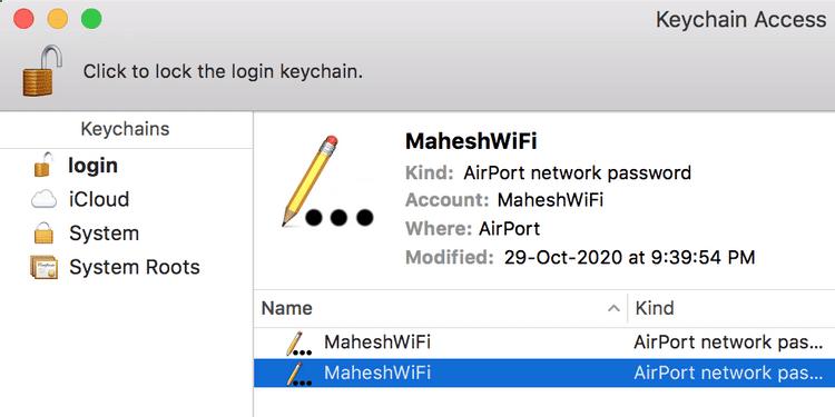 Comment afficher les mots de passe Wi-Fi sur un Mac