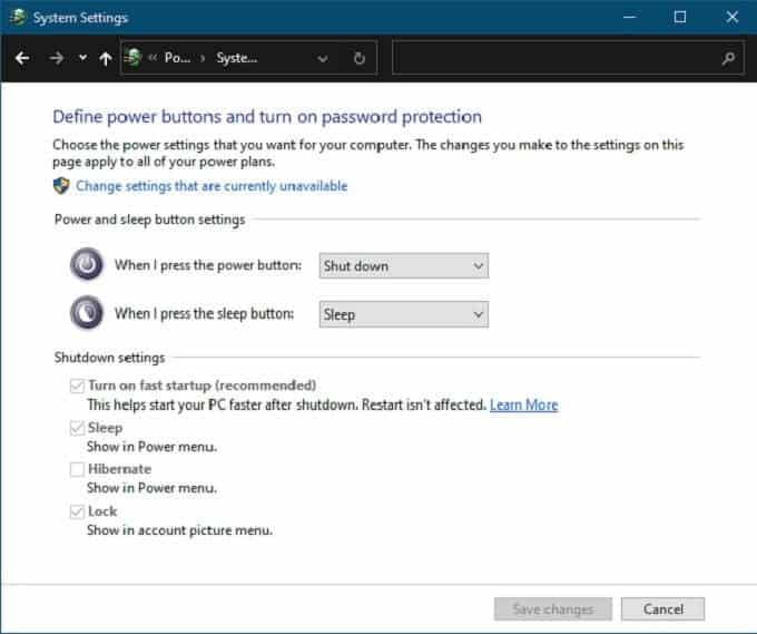 ما هو الفرق بين وضع السكون ووضع الإسبات في Windows10؟