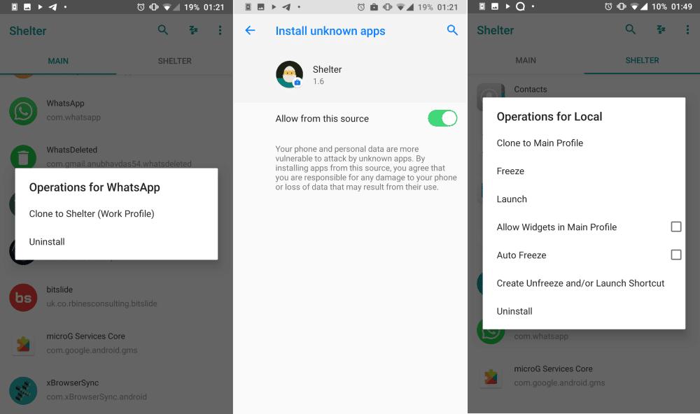 كيفية استخدام Shelter من أجل الحماية من التطبيقات علىAndroid