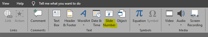 كيفية إضافة ترقيم الشرائح إلى عرض تقديمي في PowerPoint