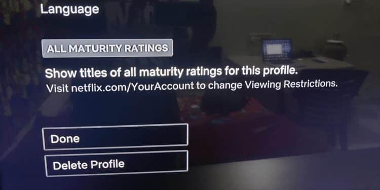 كيفية حذف ملف شخصي على Netflix من أيجهاز
