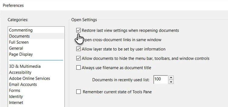 كيفية وضع إشارة مرجعية على الصفحات في مستند PDF في AdobeReader