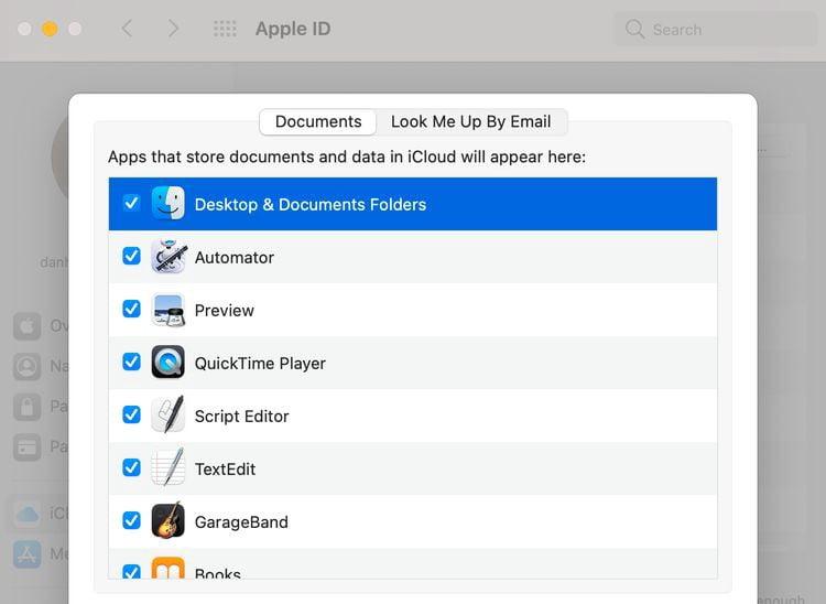 كيفية مزامنة سطح مكتب والمستندات مع iCloud على جهازMac