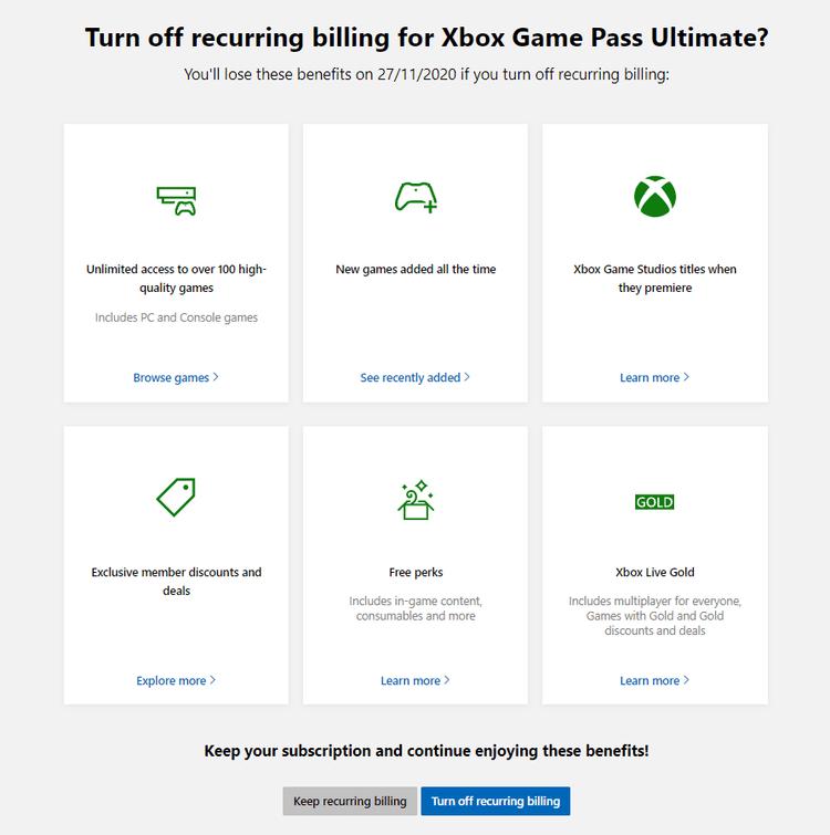 Comment annuler votre abonnement Xbox Game Pass