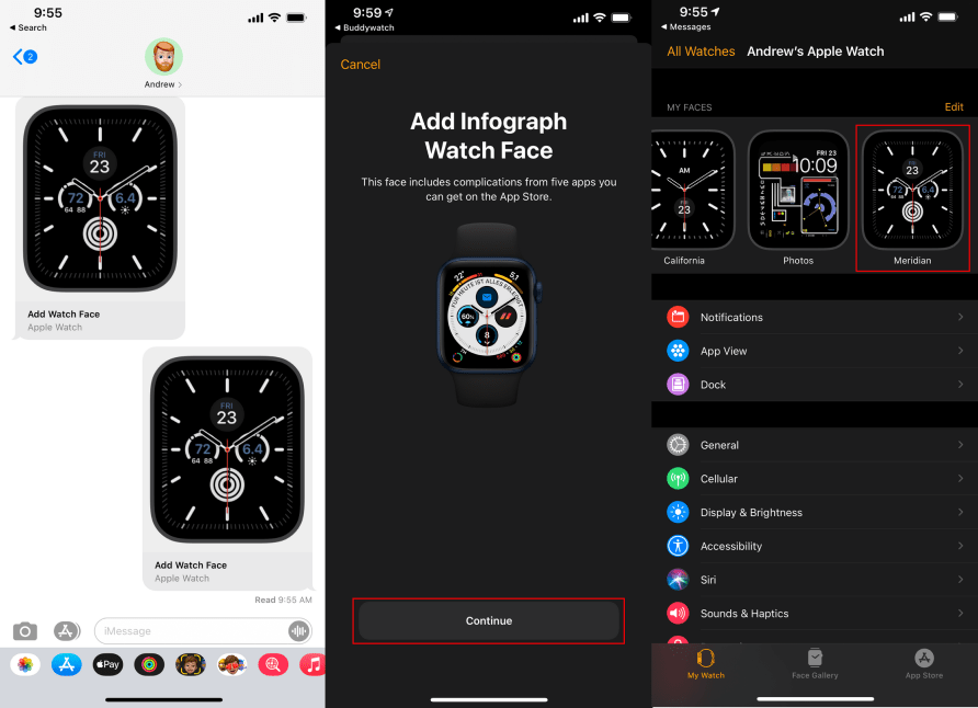 كيفية البحث عن واجهات Apple Watch الجديدة ومشاركتها وتنزيلها