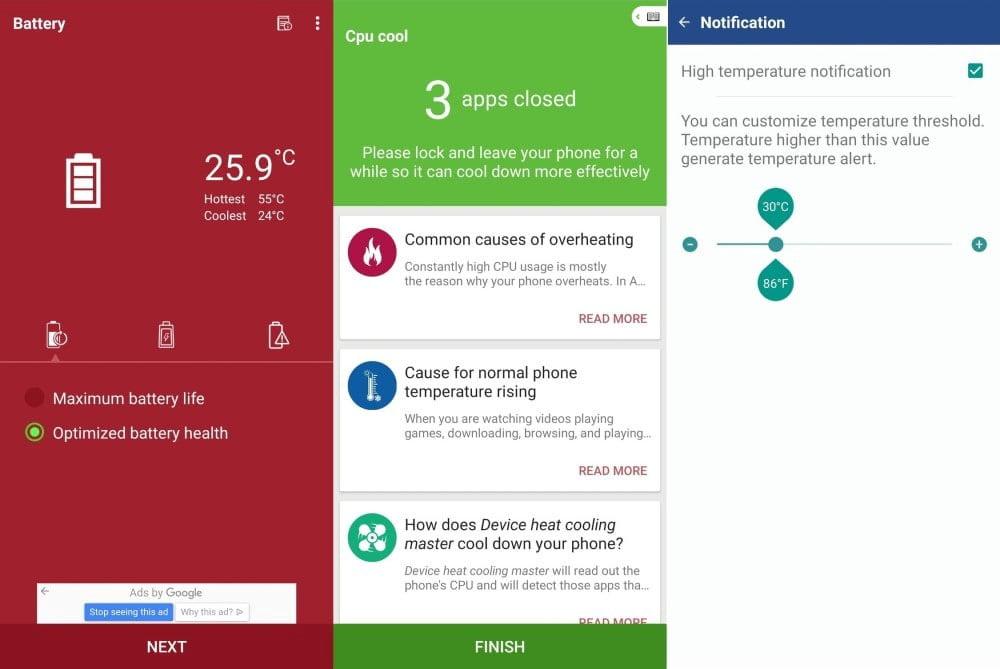 Meilleure application qui empêchera le téléphone Android de surchauffer