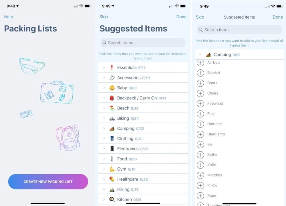 Applications de camping sympas pour les appareils Android et iOS