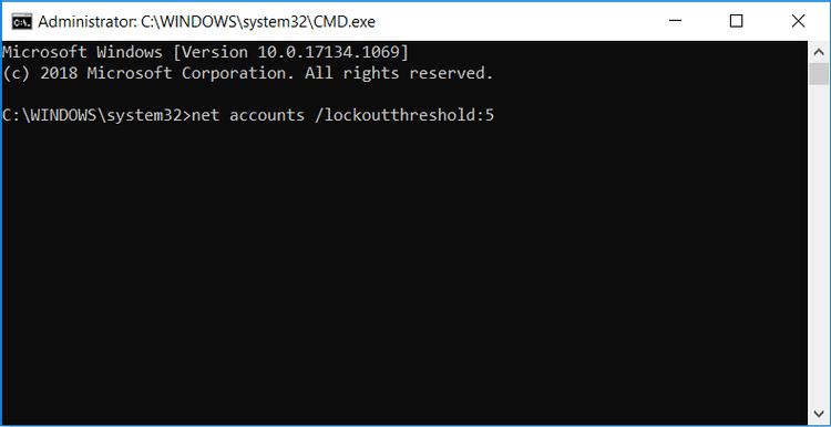 Comment limiter le nombre de tentatives de connexion infructueuses sous Windows 10