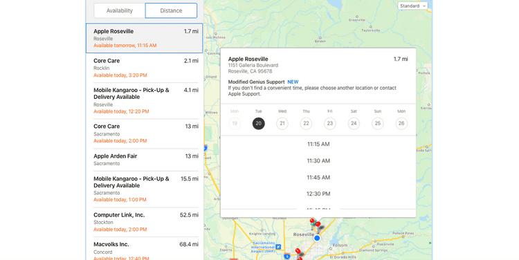 كيفية حجز موعد عند GeniusBar من خلال Apple Store - iOS iPadOS Mac