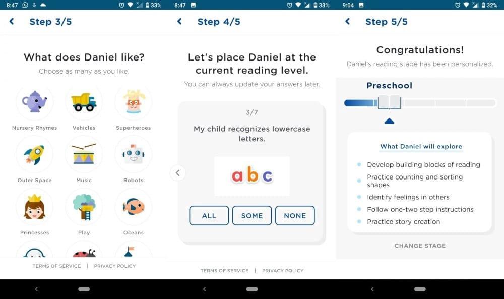 Meilleures applications pour apprendre aux enfants à lire et à écrire - Android iOS