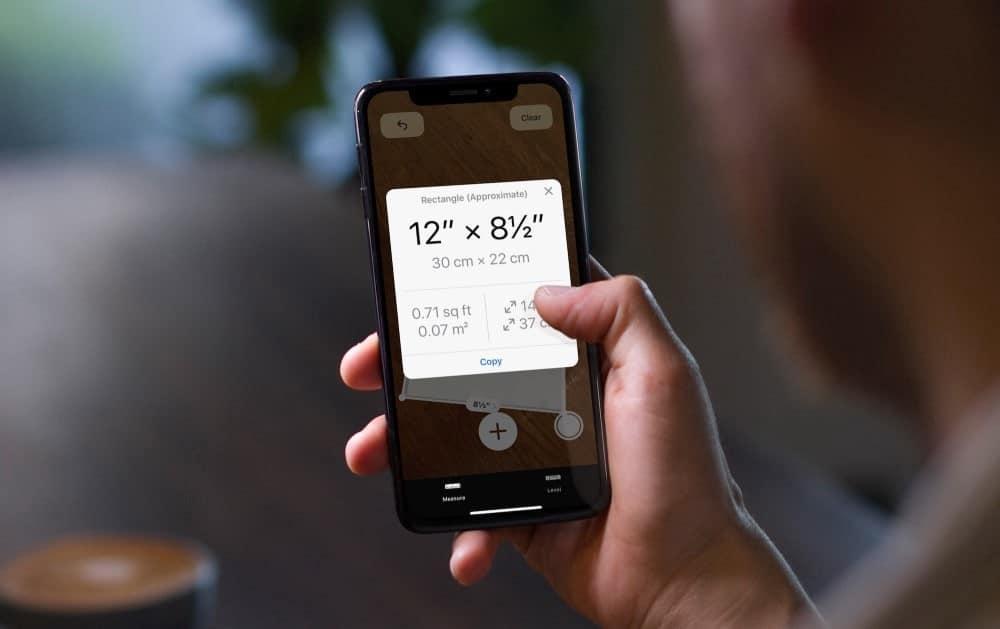 Guide pas à pas d'utilisation de l'application Apple Measure - iOS iPadOS