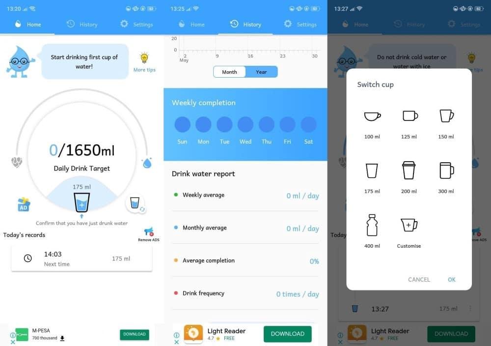 Les meilleures applications Android pour vous rappeler de boire plus d'eau