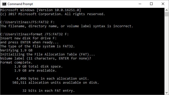 كيفية تهيئة محرك أقراص ثابت كبير الحجم باستخدام FAT أوFAT32 - الويندوز