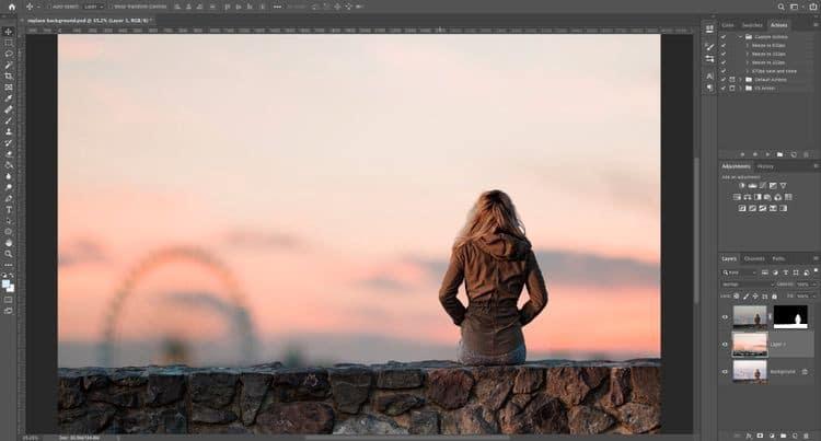 كيفية تغيير خلفية الصورة في Photoshop - شروحات