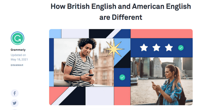 المواقع الأساسية لمساعدتك في التعرف على الفرق بين الانجليزية البريطانية والأمريكية - مواقع
