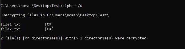 كيفية استخدام موجه أوامر Windows لتشفيرالملفات - الويندوز