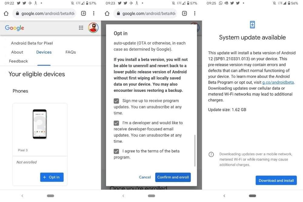 Comment essayer la version bêta d'Android 12 maintenant - Android
