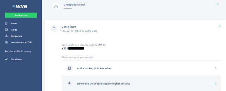 كيفية إعداد تسجيل الدخول باستخدام التحقّق بخطوتين على حسابWise - شروحات
