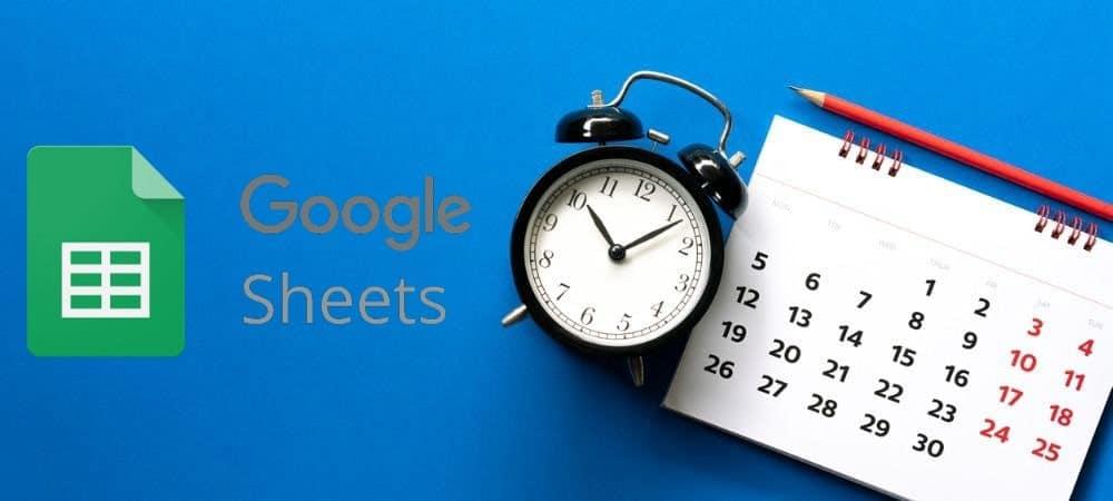 كيفية إضافة الوقت الحالي إلى جداول بياناتGoogle - Google Office Suite