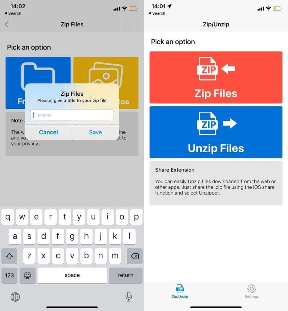 أفضل التطبيقات لضغط الملفات على iPhone وiPad - iOS
