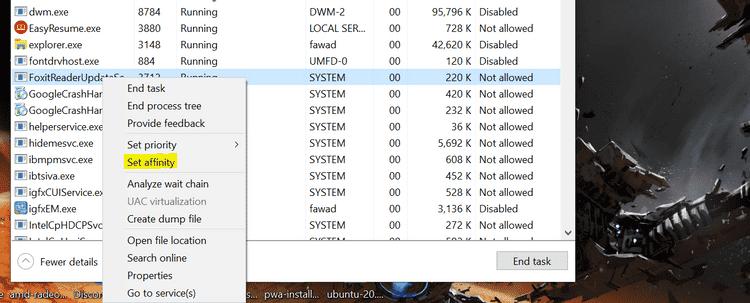كيفية تخصيص نوى وحدة المعالجة المركزية يدويًا لتطبيق ما على Windows10 - الويندوز