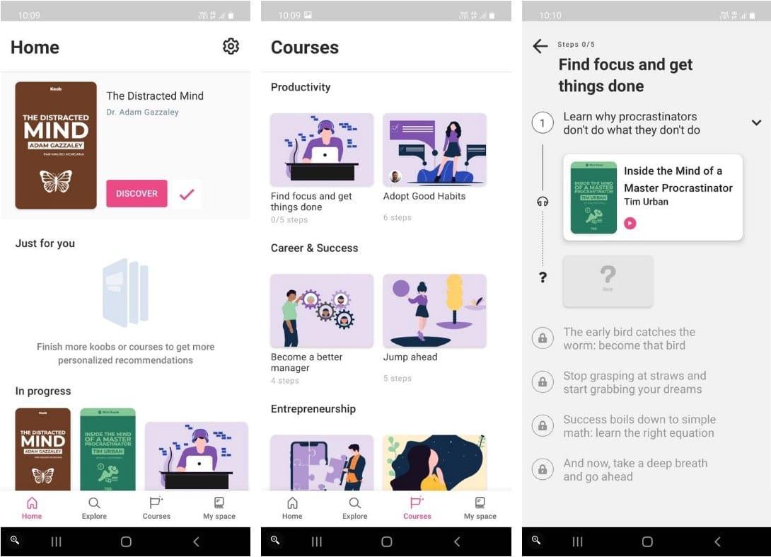 أفضل تطبيقات تلخيص الكتب لأجهزة Android وiPhone - Android iOS